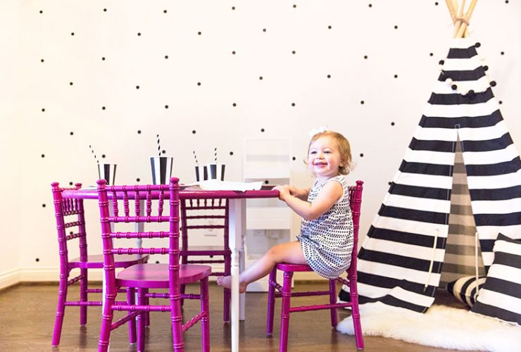 Party Playroom: DIY Colorful Kids Table