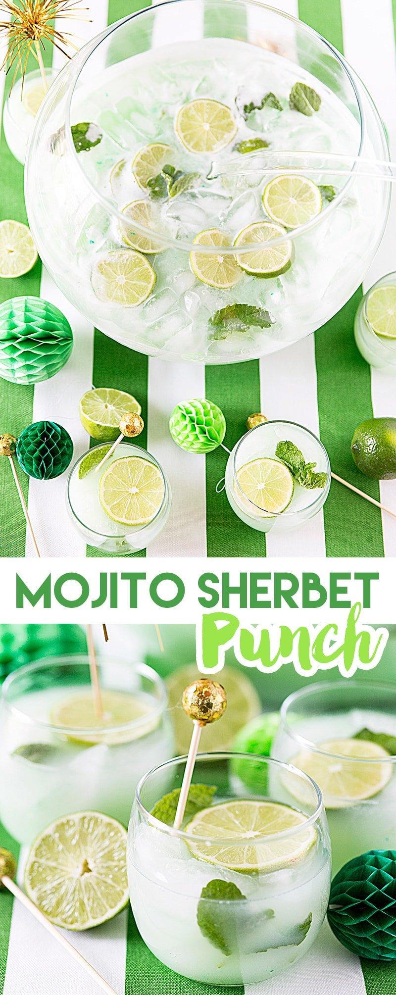 Mojito Sherbet Punch