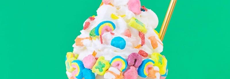 Rainbow Cereal Milkshake Recipe for St. Patrick's Day