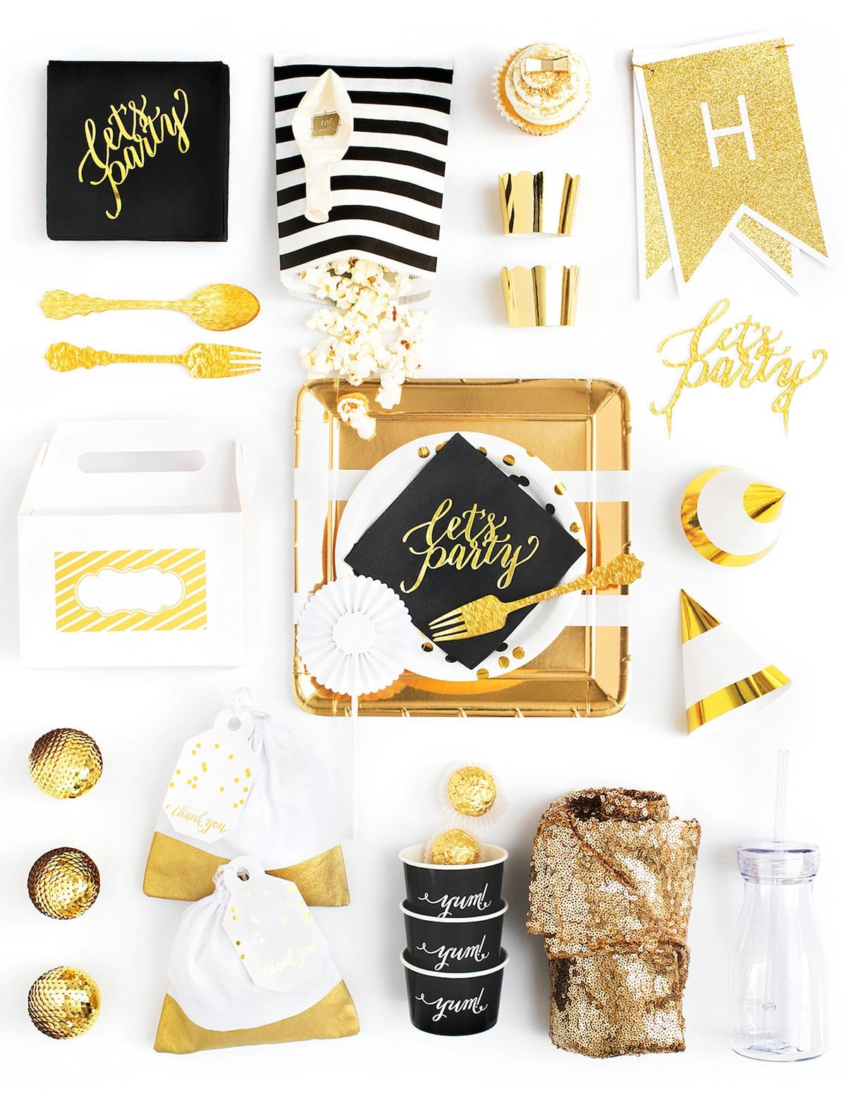 Black, White, and Gold Party in a Box!
