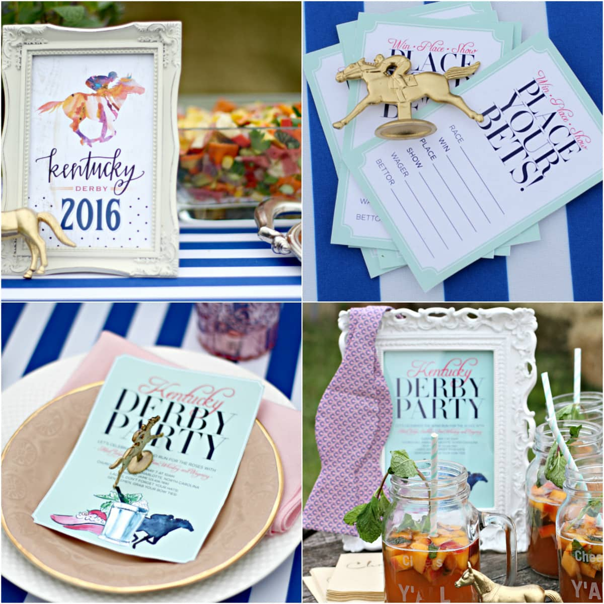 Garden Themed Kentucky Derby Party - Betting Cards!