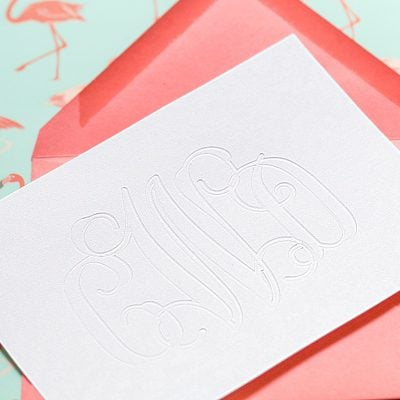 DIY Debossed Monogram Stationery with Silhouette Curio
