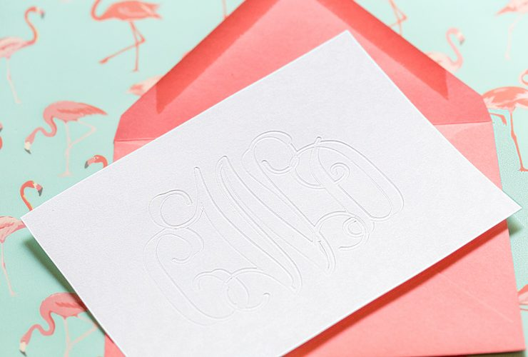 Silhouette Curio DIY: Debossed Monogram Stationery