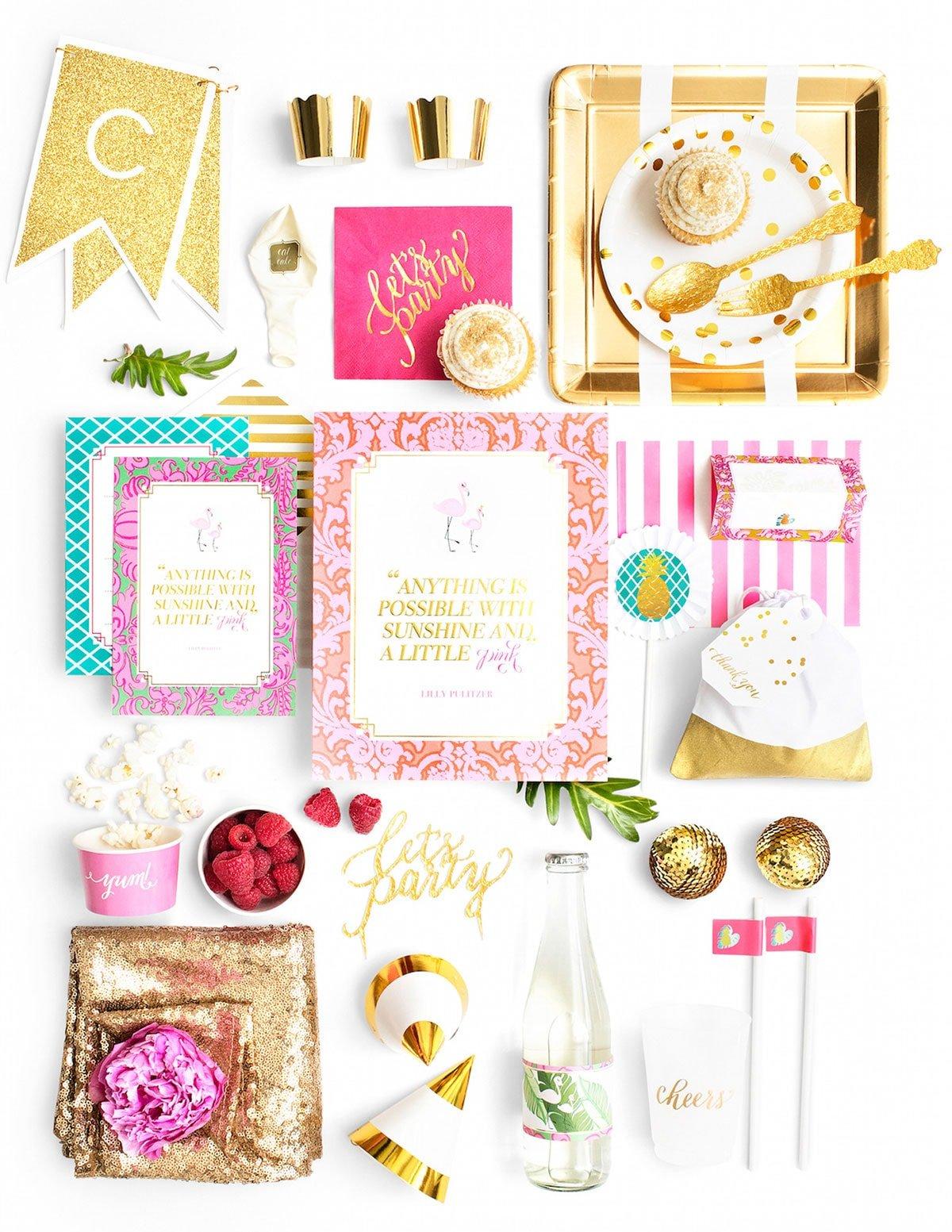 Flamingos & Sunshine Party in a Box! SO CUTE!