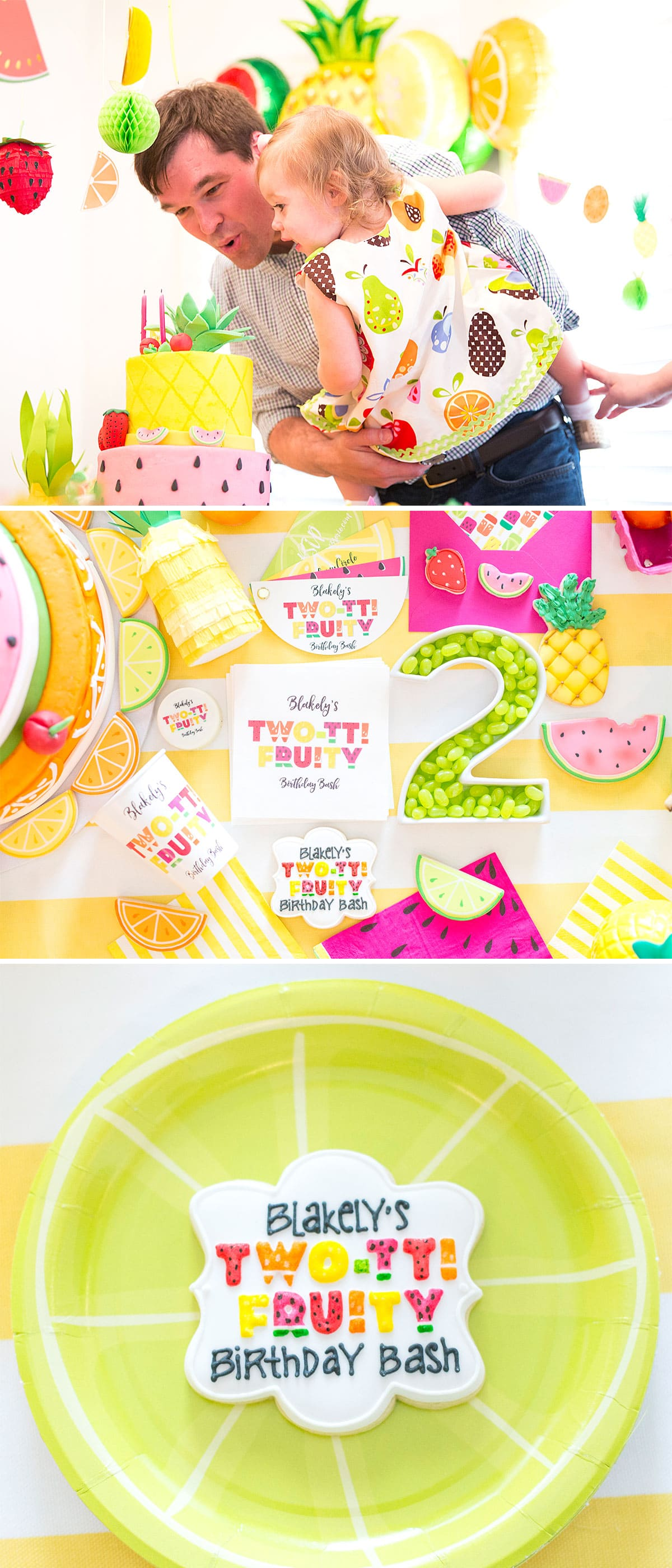 Fruit Themed Birthday Party, Two-tti Fruity!