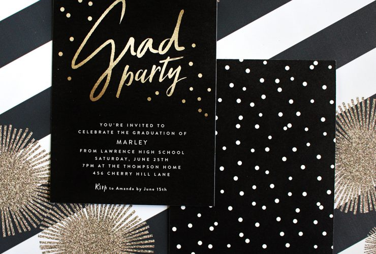 Stylish Black, White, + Gold Graduation Party!