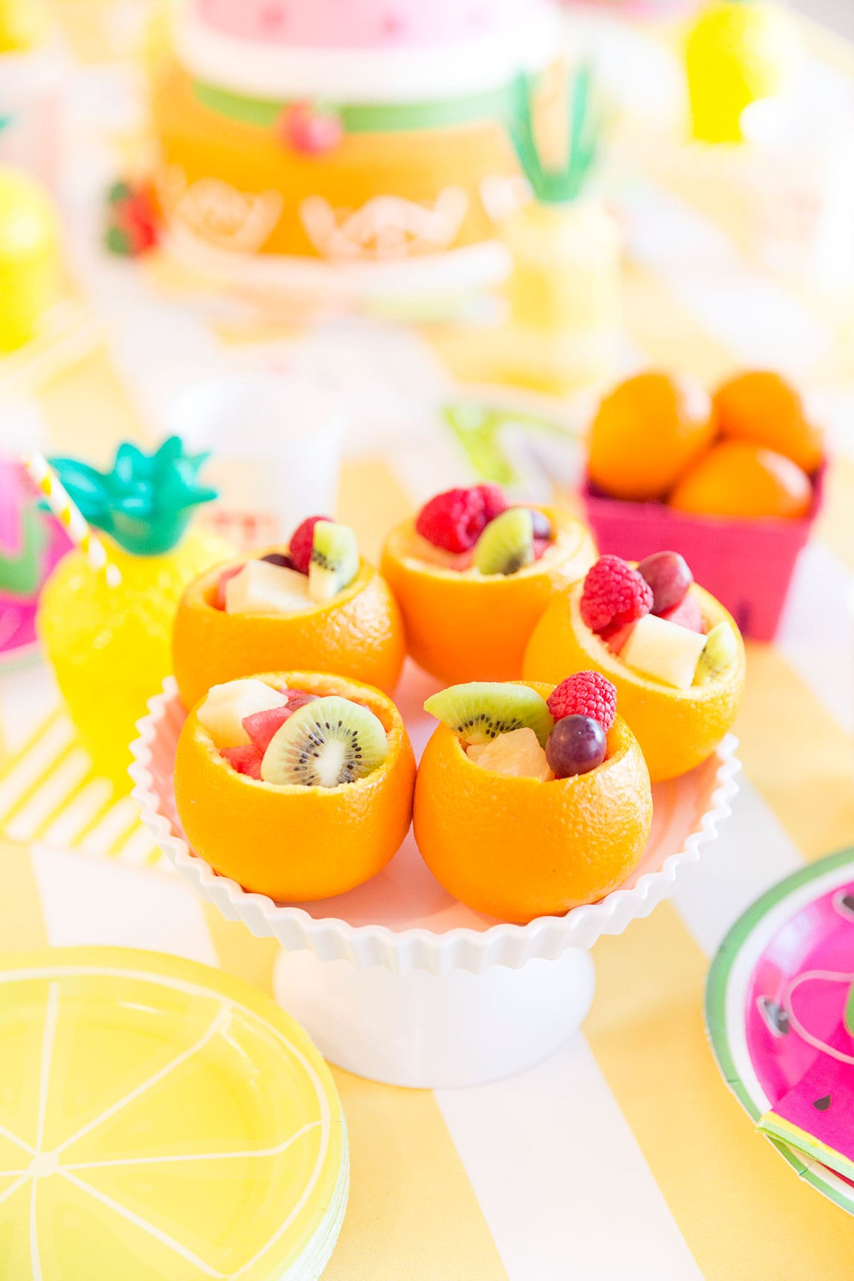Orange Fruit Cups for Twotti Fruity Birthday Party!
