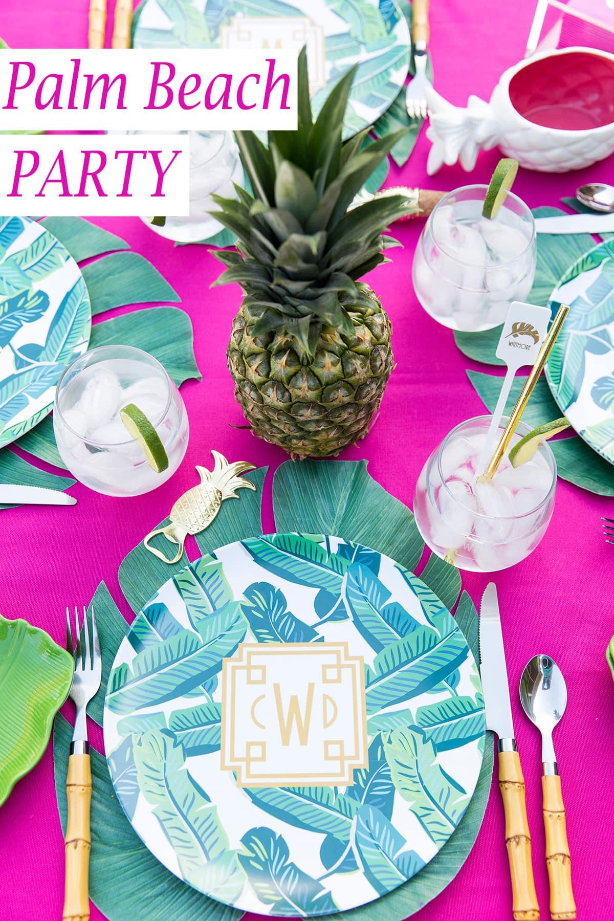 throw a palm beach chic party