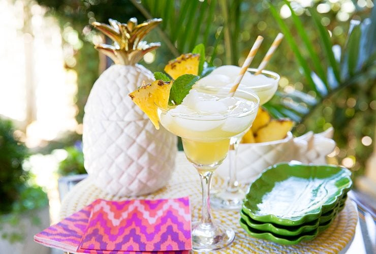 Pineapple Margaritas, The Quick & Easy Way!