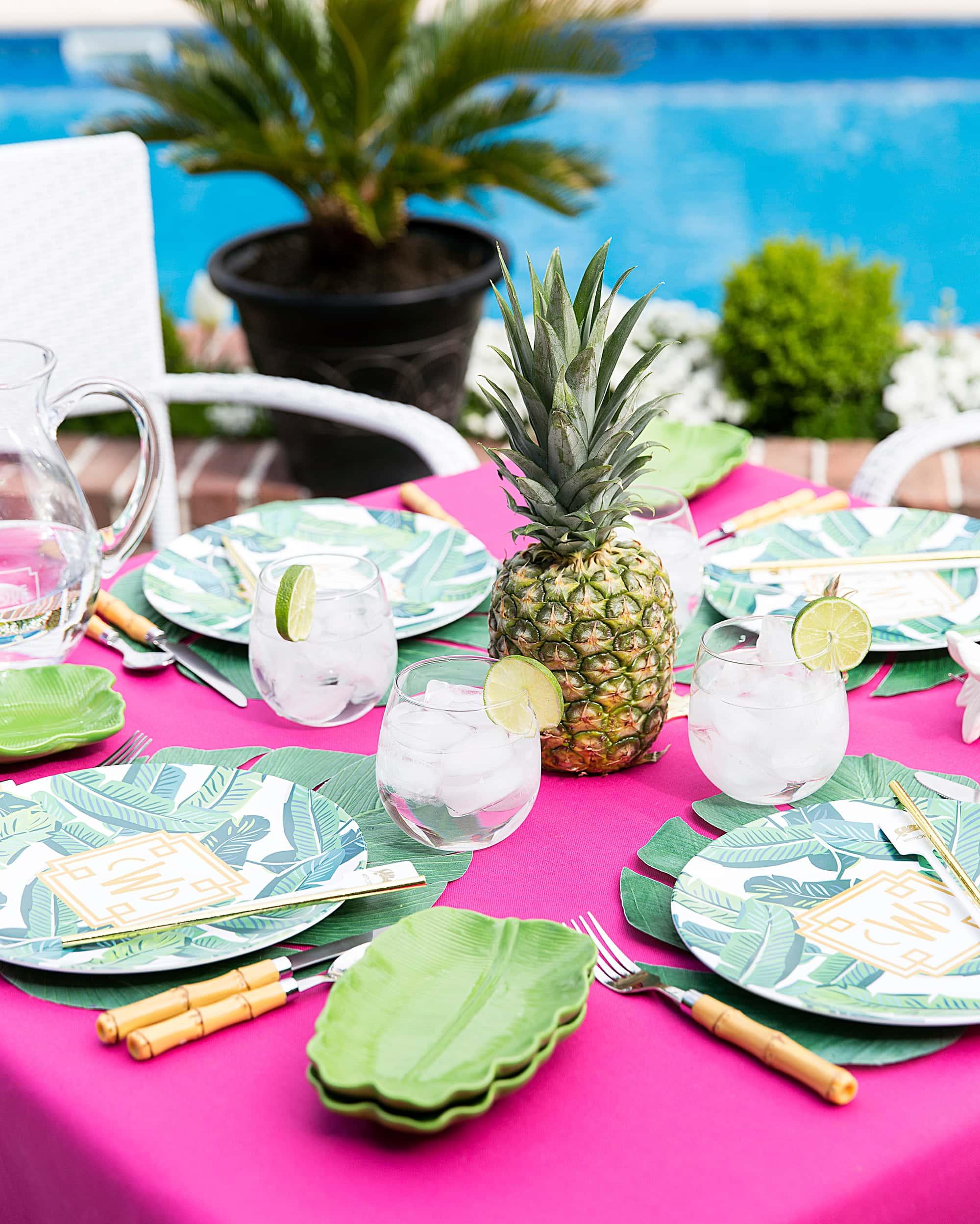 Palm Beach Chic Tablescape!