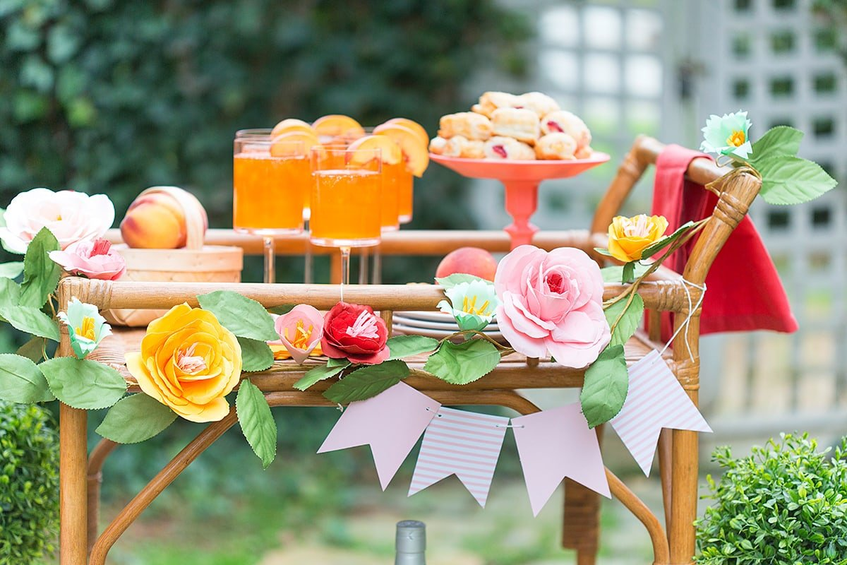 Welcome Spring with a Brunch Bar Cart Party