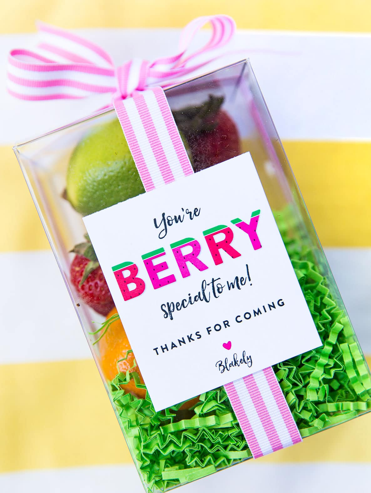 """You're Berry Special To Me"" Favor Box for Two-tti Fruity Party!"