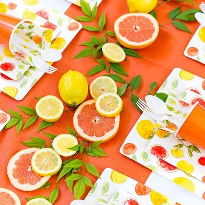DIY Party Tablescape: Citrus Party!