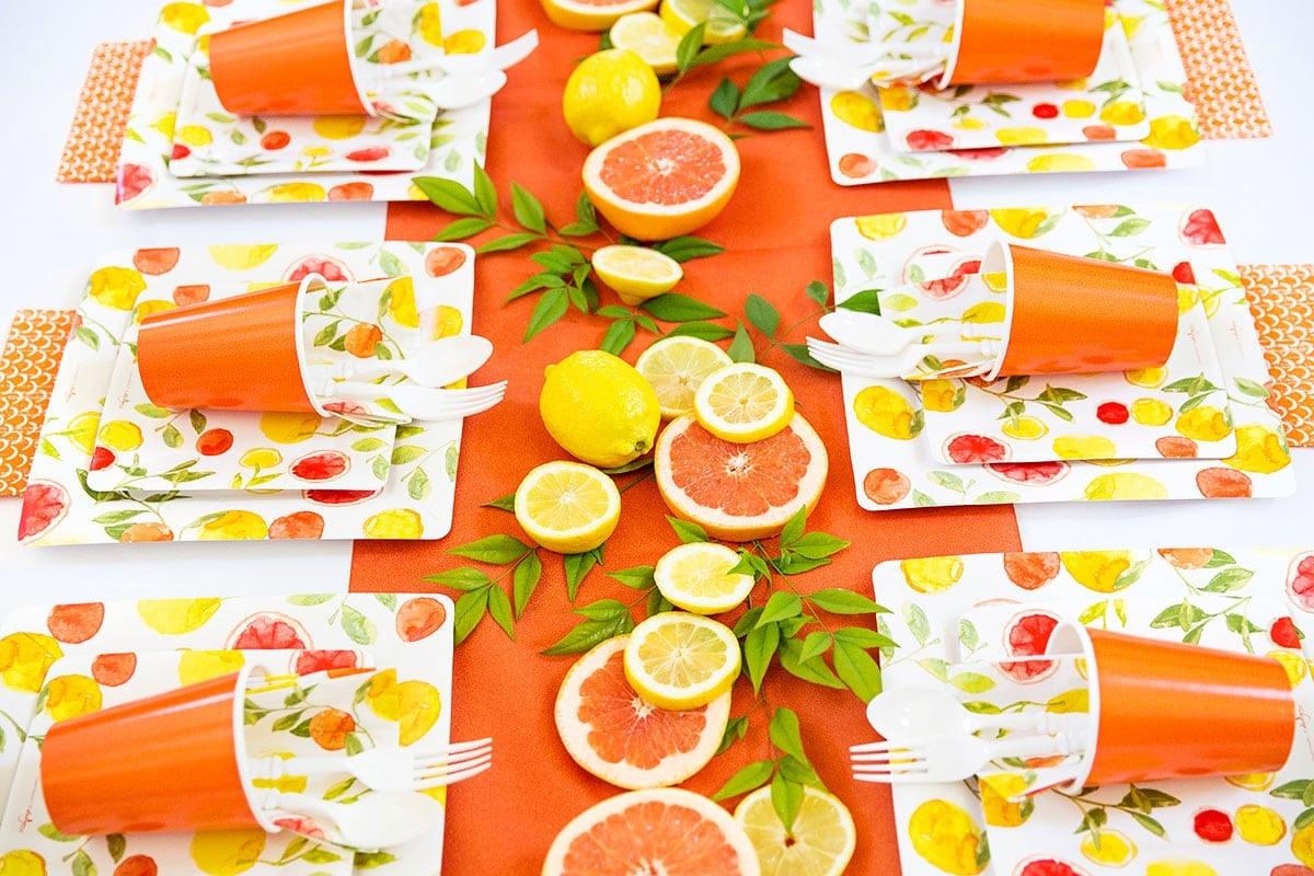 DIY Party Tablescape: Citrus Party!