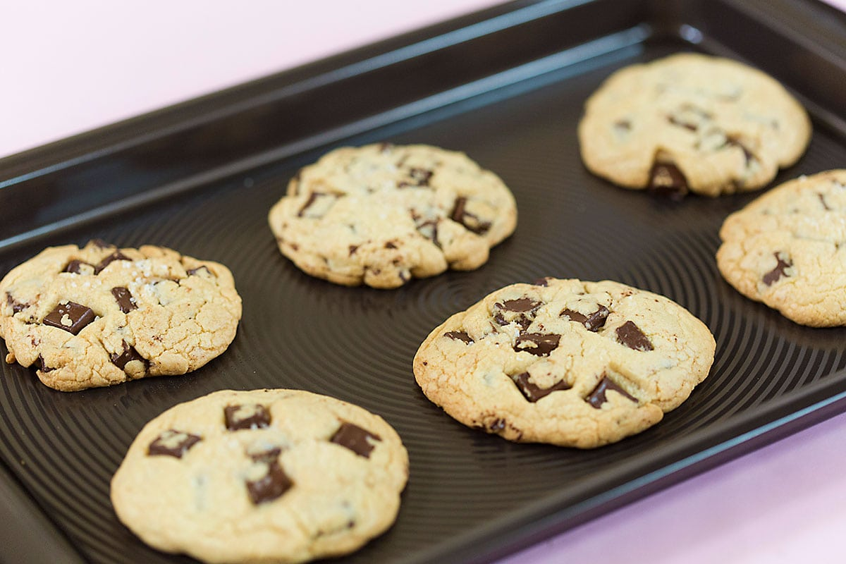 Dark Chocolate Chunk Cookies, Bakery Style