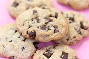 Dark Chocolate Chunk Cookies, Bakery Style