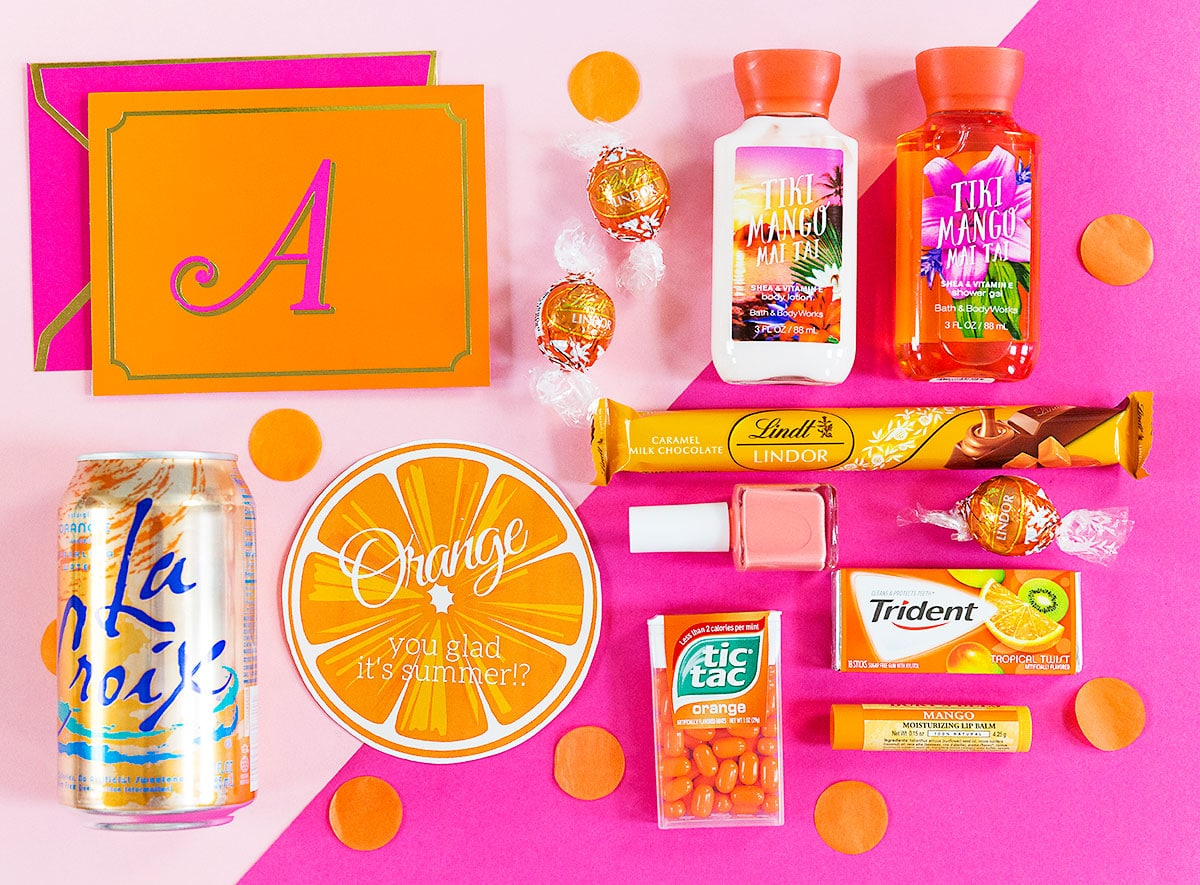 Orange You Glad It's Summer Teacher Gift Idea and Printable Tag