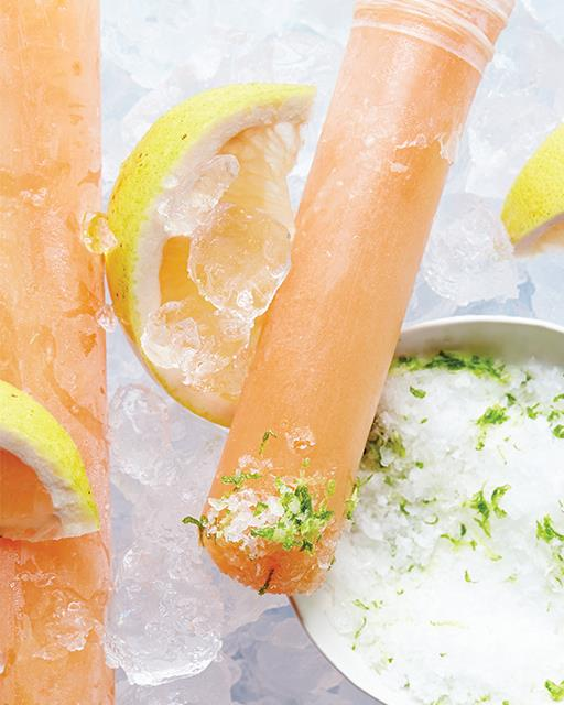 Grapefruit and Tequila Paloma Pops