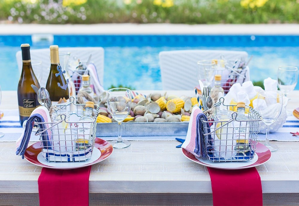 4th of July Clam Bake Tablescape!