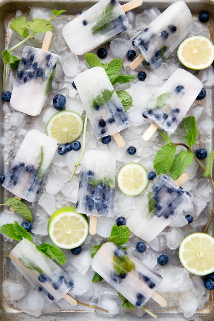 Blueberry Mojito Popsicles -- and other boozy faves!