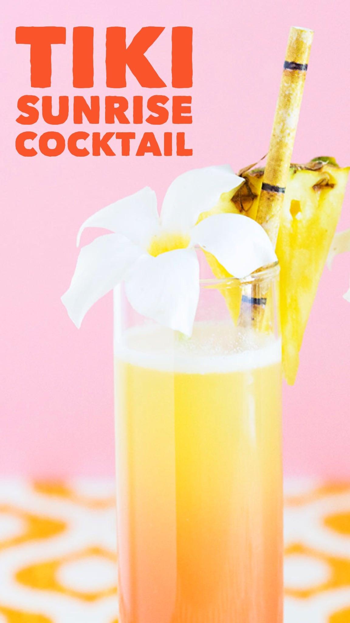 Tastes just like the cocktails I had in Hawaii! Tiki Sunrise Cocktail