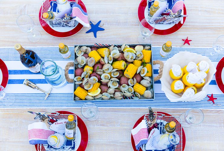 Host a 4th of July Dinner, Clam Bake Style!