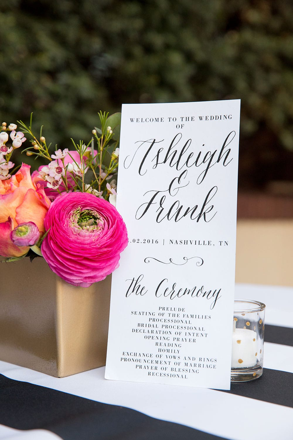 Black and White Striped Wedding Details!