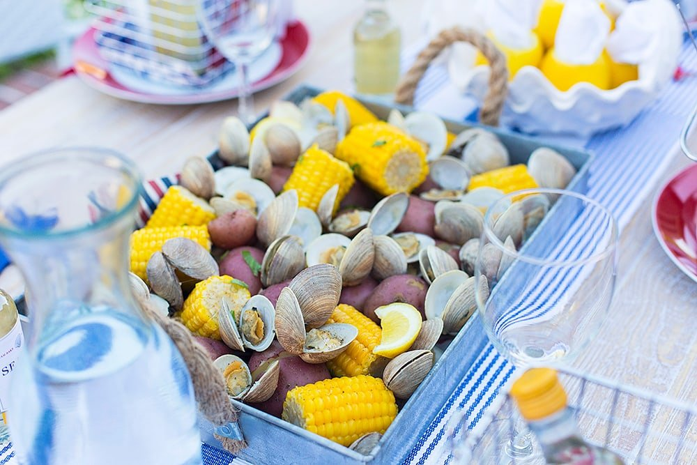 Food for the perfect Clam Bake Party!