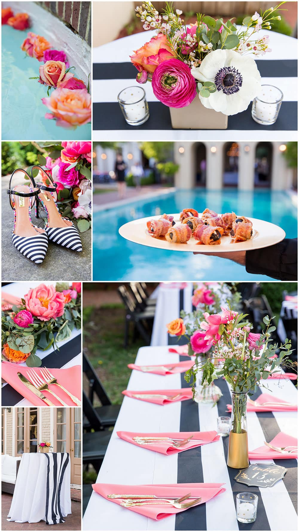 Super Whimsical Black White Striped Wedding Pizzazzerie Home Interior And Landscaping Synyenasavecom