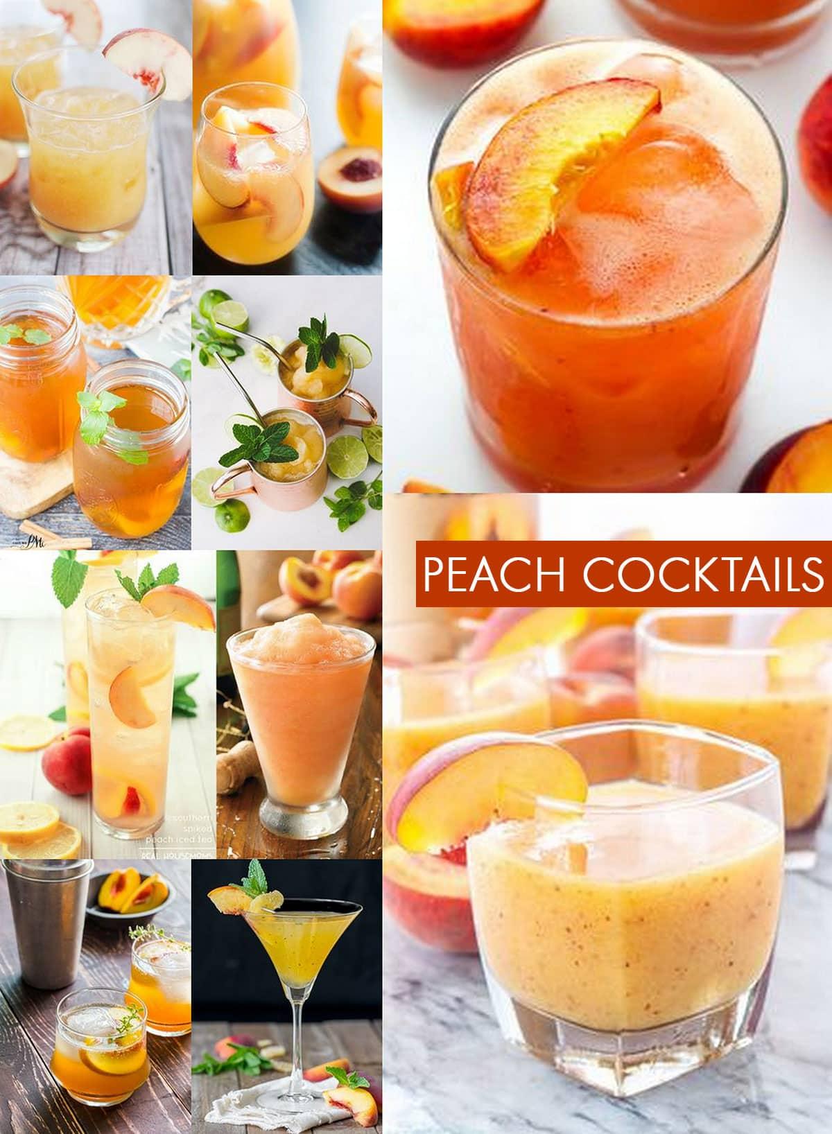 Peach Cocktail Recipes!