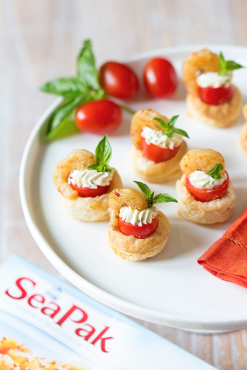 Shrimp & Tomato Pastry Tartlet - Party Appetizer