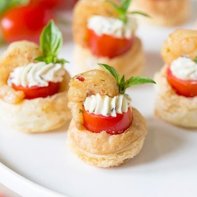 Shrimp & Tomato Pastry Tartlet | Favorite Appetizer Recipe