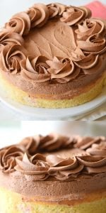 Yellow Cake with Fudge Frosting Recipe