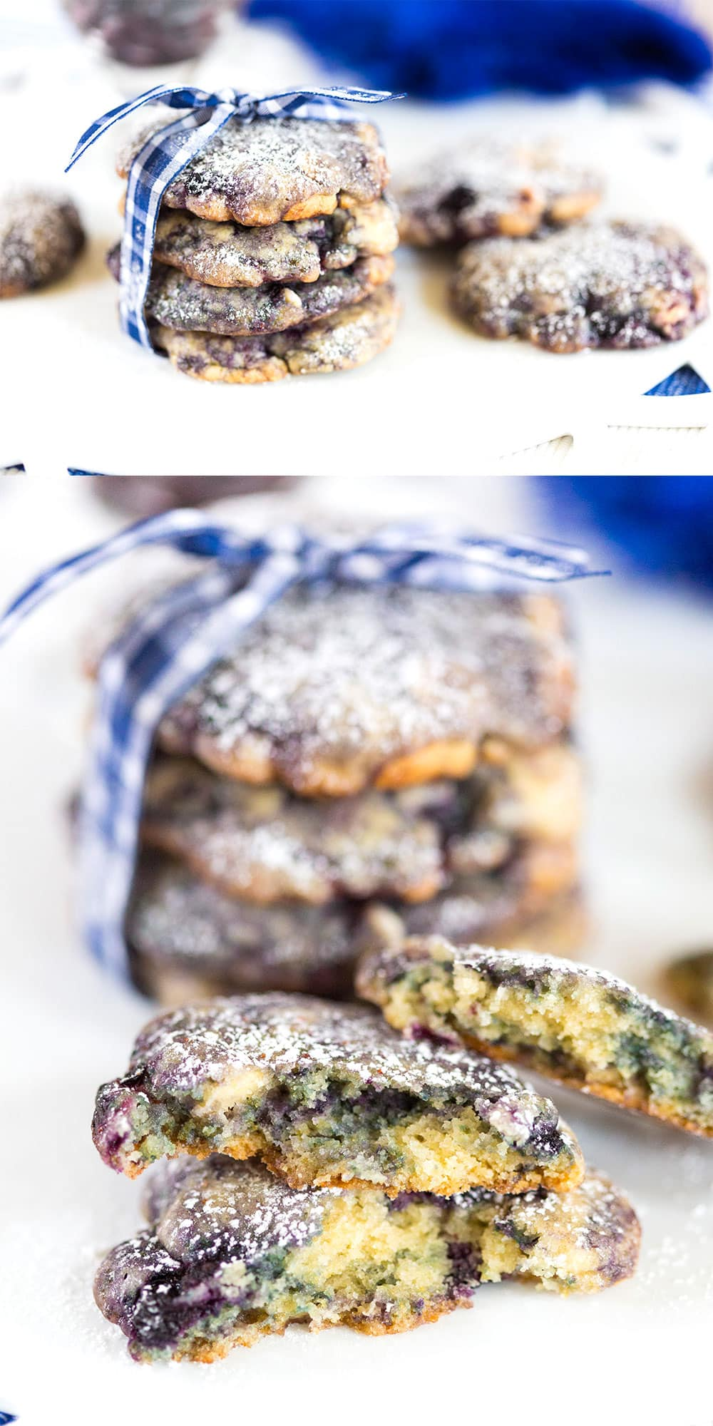 Blueberry White Chocolate Chip Cookies, so good!