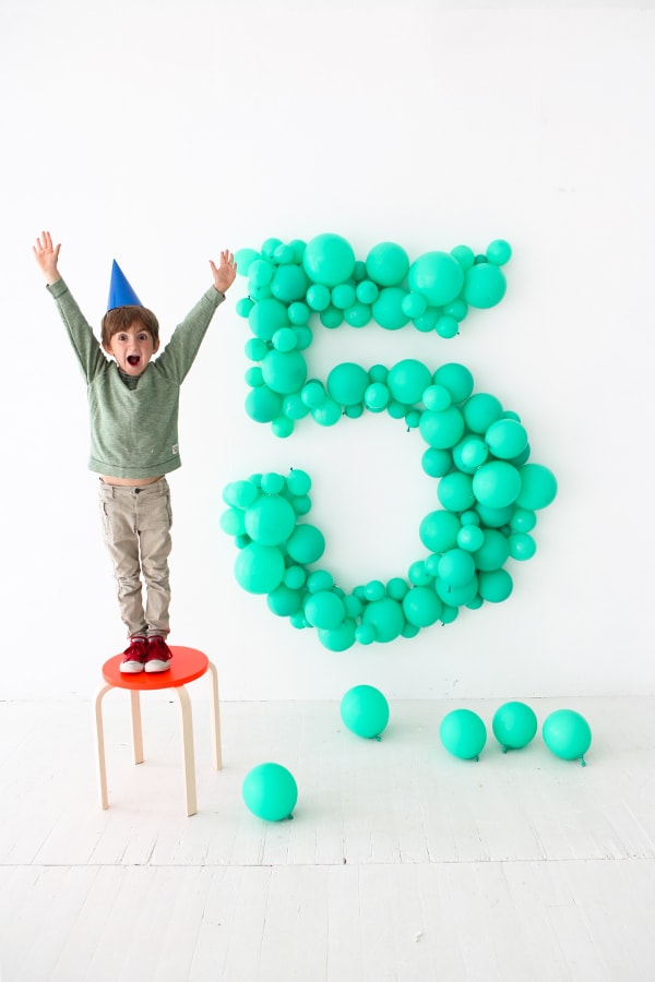 DIY Giant Balloon Number