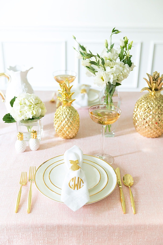 Gorgeous dreamy pink party tablescape