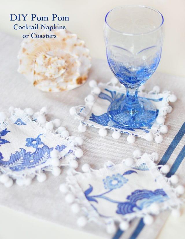 DIY Pom Pom Coasters