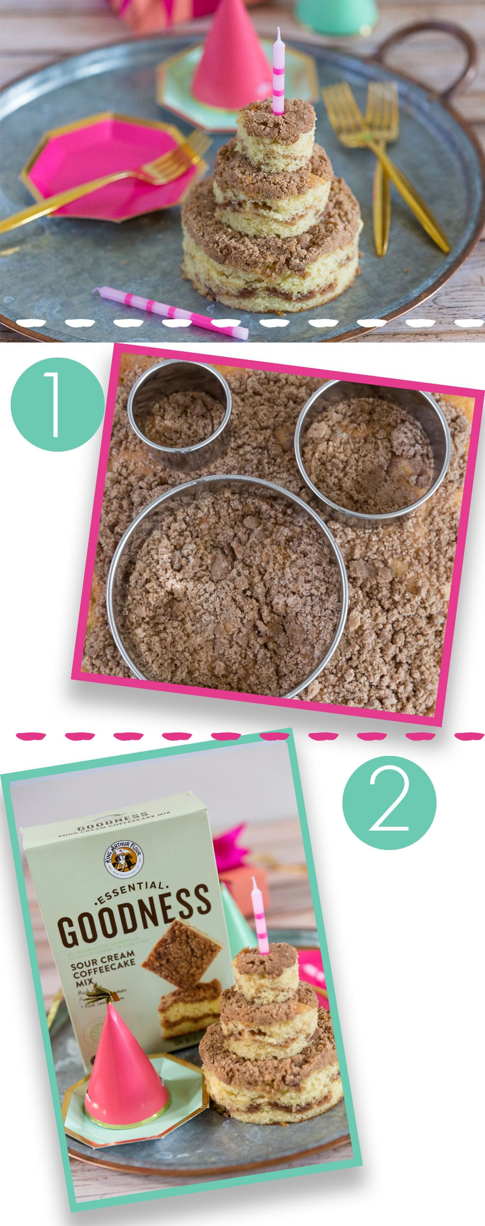 How to make a birthday cake out of coffee cake!