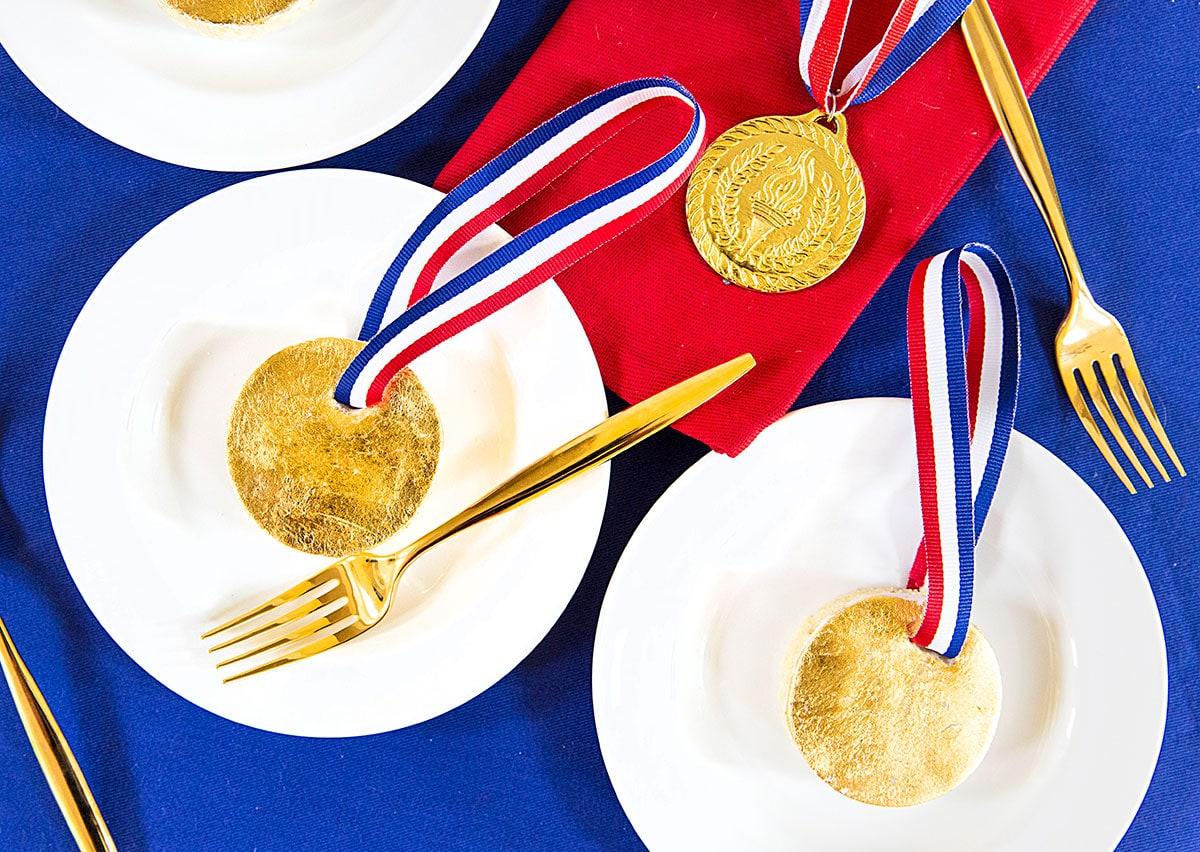 Mini Gold Medal Cakes - Rio Olympics
