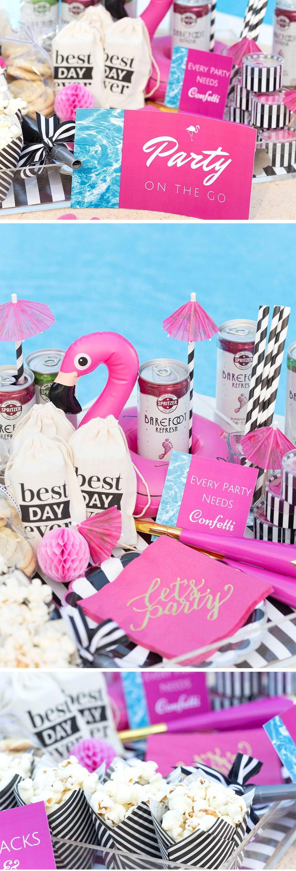 Create a DIY Poolside Party To Go | Pizzazzerie