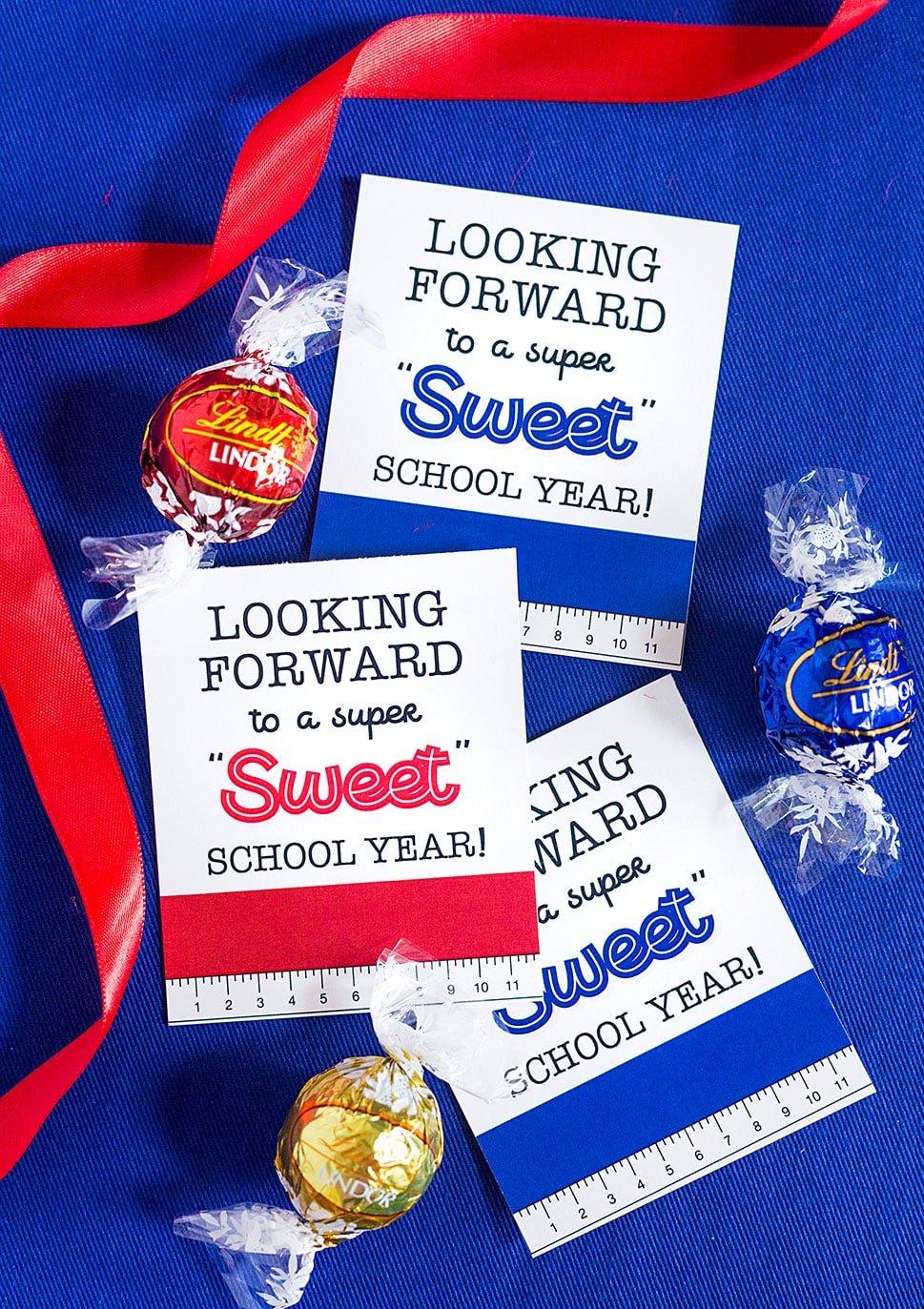 A Sweet Back to School Teacher Gift Idea + Free Printables