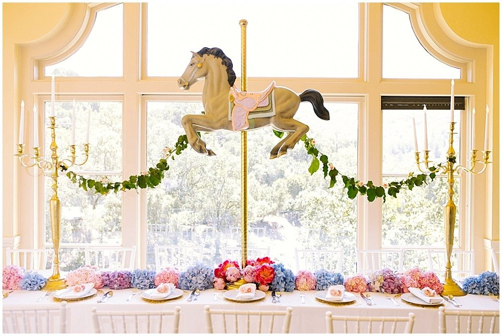 Magical Carousel Birthday Party! Love the sweet treats and table!