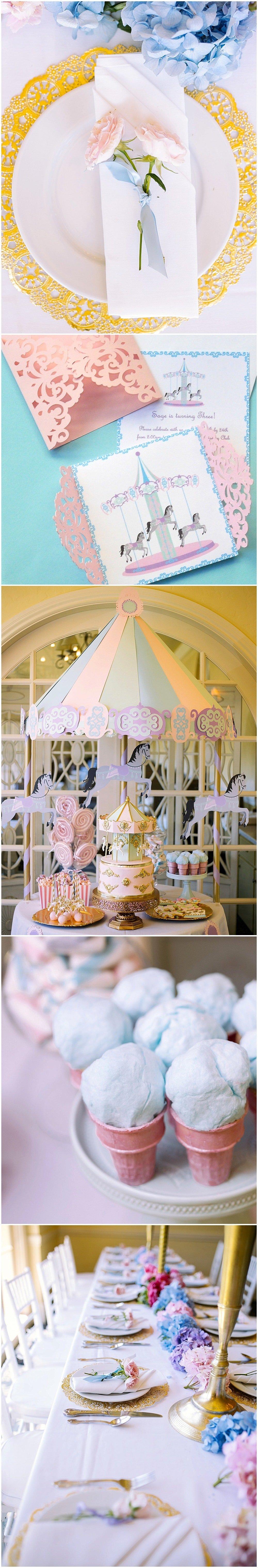 Gorgeous Magical Carousel Birthday Party!