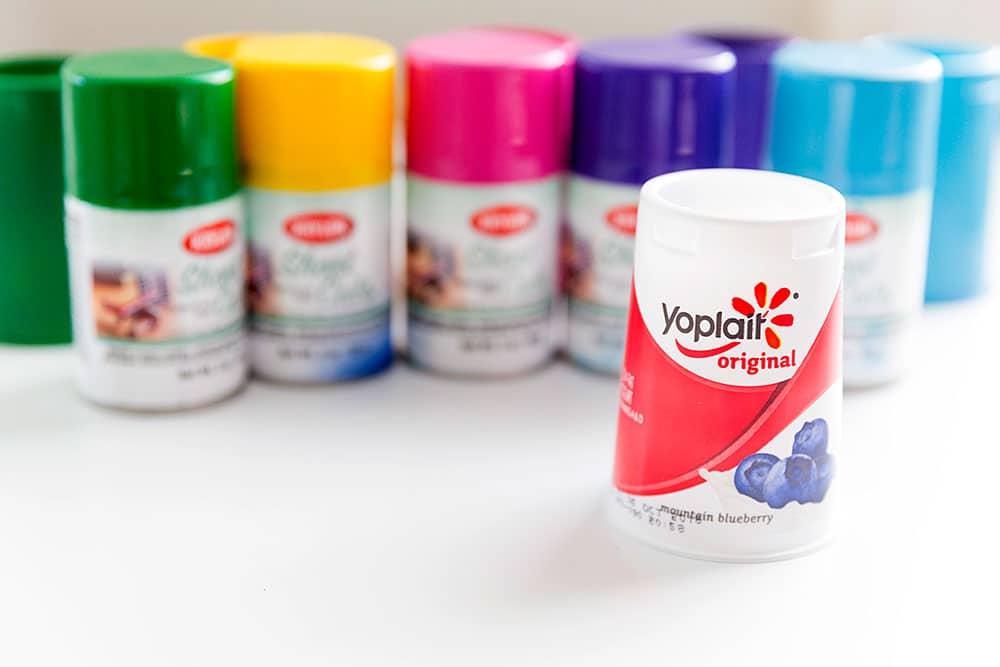 spray paint Yoplait Original cups!