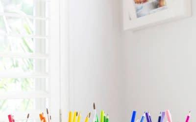 DIY Rainbow School Supply Cups