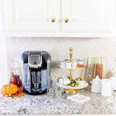 Celebrate National Coffee Day and add autumn touches to your coffee bar!