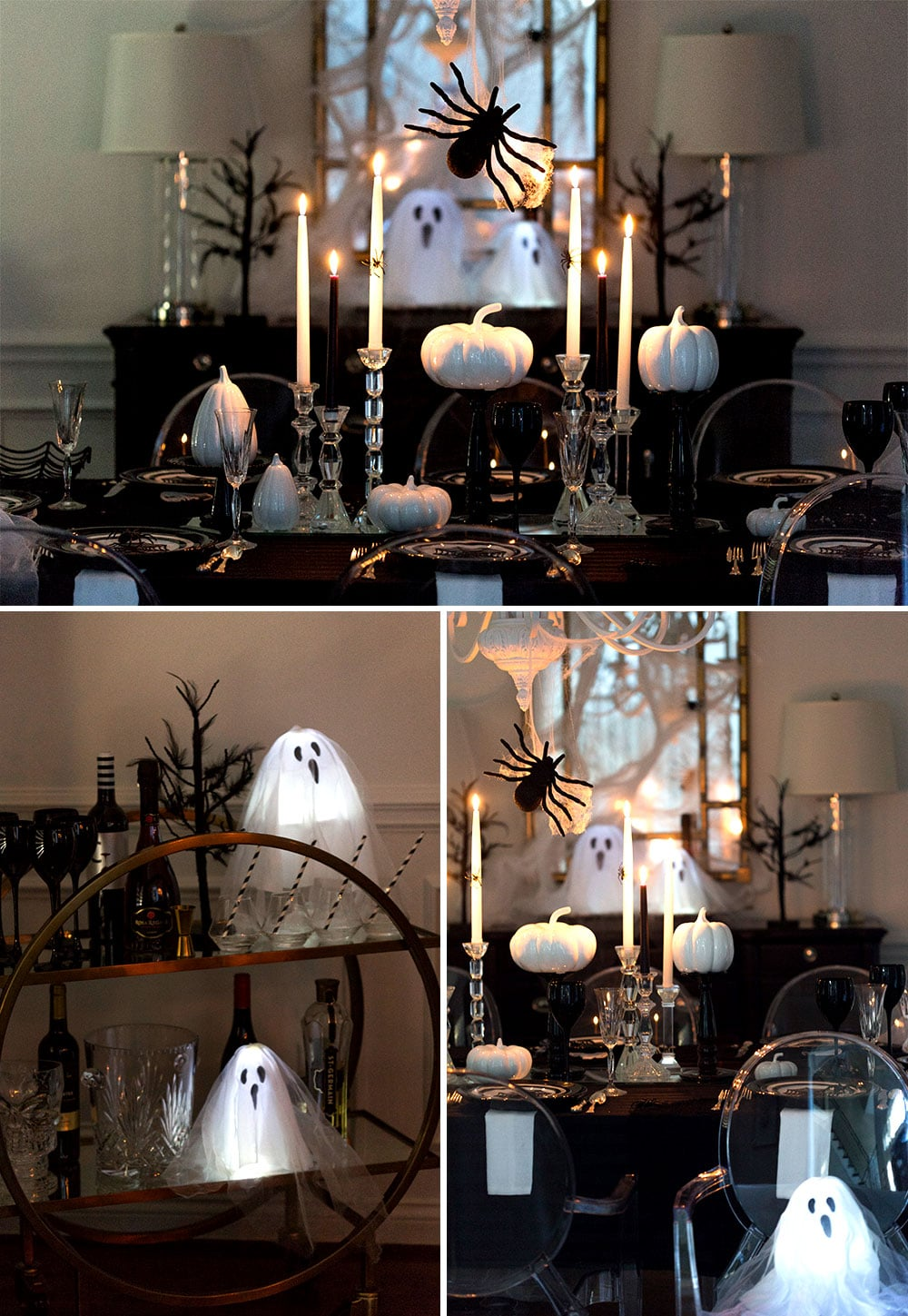 Spooky Halloween Dinner Party with Glowing Ghosts!