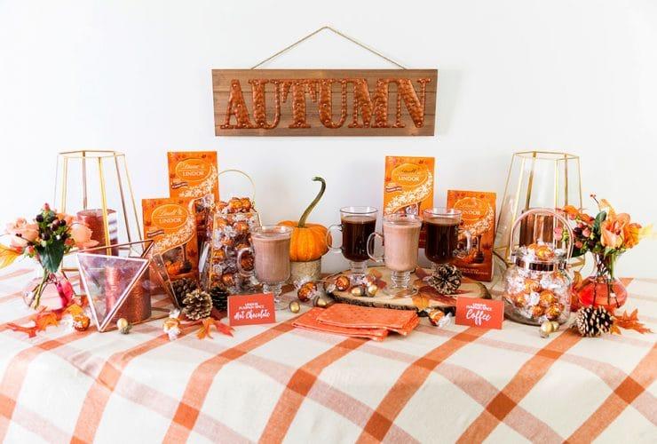 Pumpkin Spice Hot Chocolate + Coffee Bar