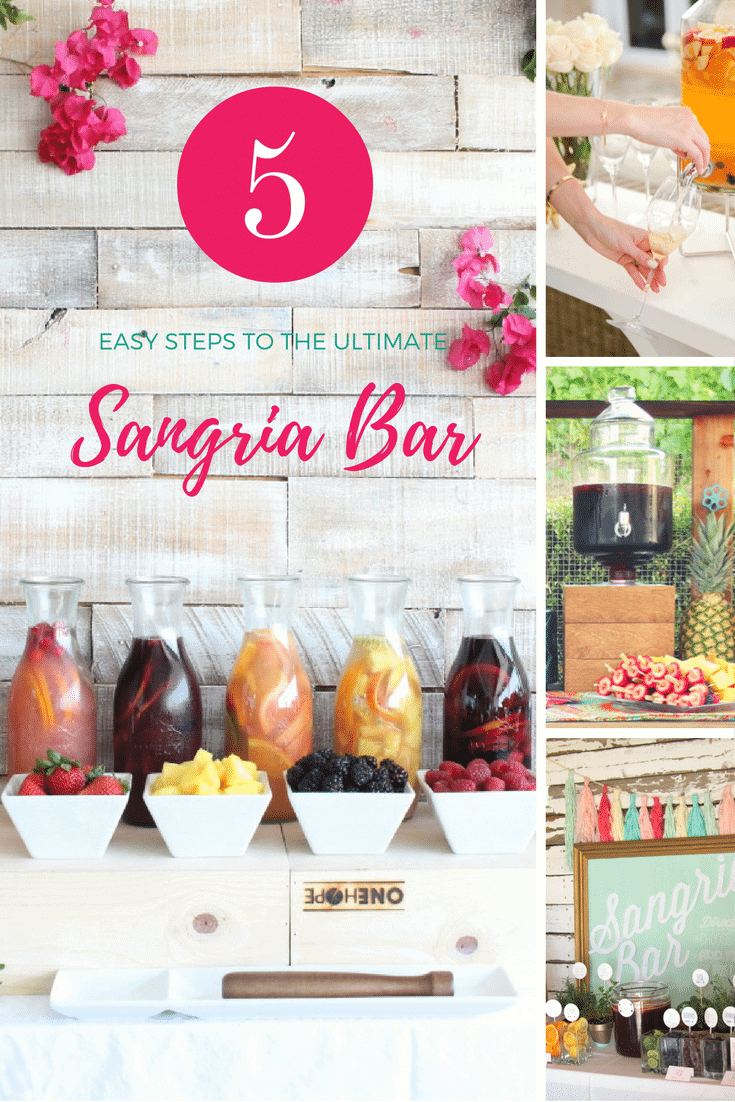 5 Easy Steps to the Ultimate Sangria Bar | Pizzazzerie