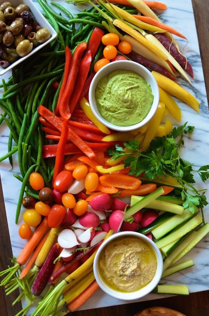 messy-veggie-platter